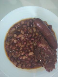 Alubias Mandilín con carne.