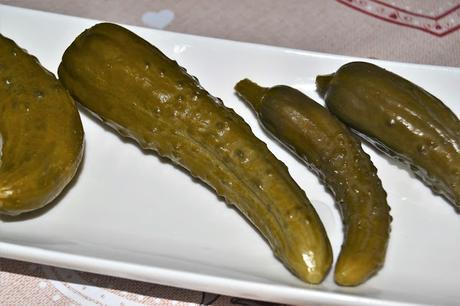 Conserva de pepinillos en vinagre