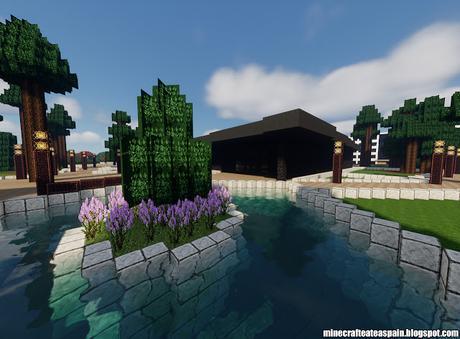 Réplica Minecraft del Museu Agbar de les Aigües, Barcelona, España.