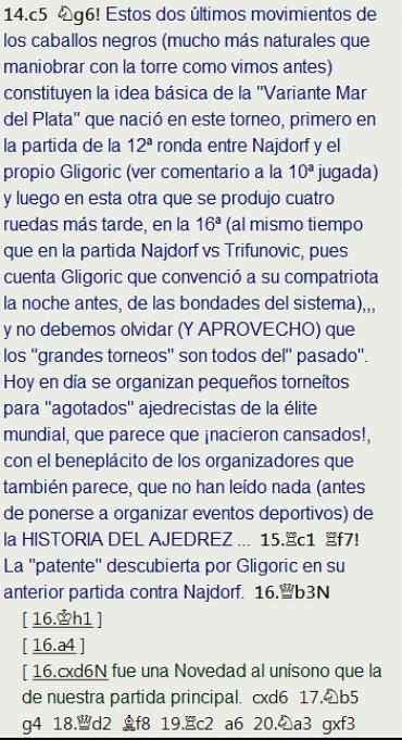 El baúl de los recuerdos (20) - Eliskases vs Gligoric, Mar del Plata (16) 1953