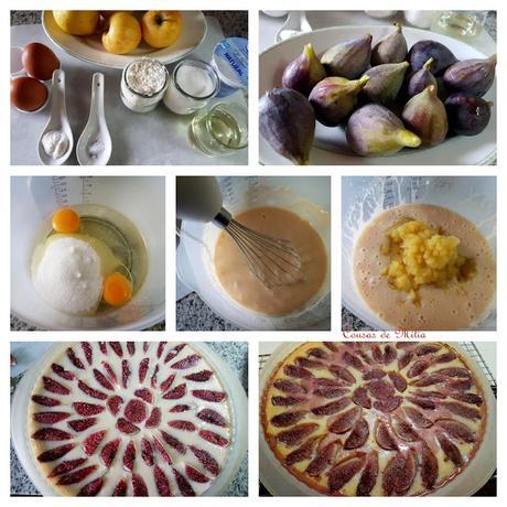 Tarta de manzana con higos
