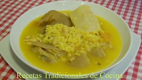 Arroz caldoso Valenciano Receta tradicional de la Abuela