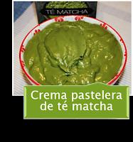 CREMA PASTELERA DE TE MATCHA