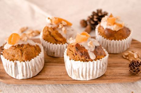 Muffins de Carrot Cake - Repostería saludable