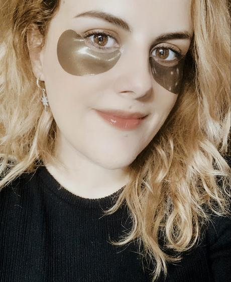 PETITFÉE: HYDROGEL EYE PATCH BLACK PEARL & GOLD