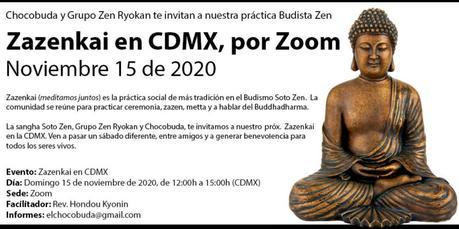 CDMX, nos vemos en Zazenkai. Noviembre 15 de 2020
