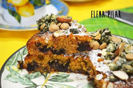 Pastel de arándanos y almendra (sin gluten ni lácteos):