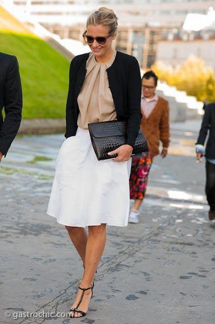 Falda Blanca Larga Combinar