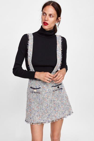 Falda Con Tirantes Mujer Zara