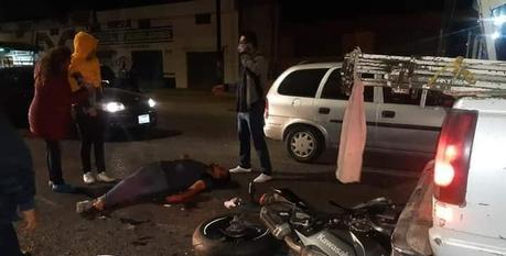 Motociclista se accidente frente al Tangamanga II