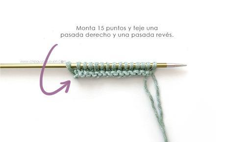 Cómo tejer el Cubrepañal del punto con tirantes PETIT -Patrón y Tutorial