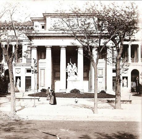 Fotos antiguas de Madrid: El Museo del Prado en 1890