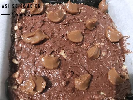 Brownie de chocolate y dulce de leche