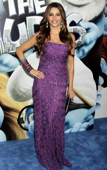 Sofia Vergara 'The Smurfs' premiere held at the Ziegfeld Theater.