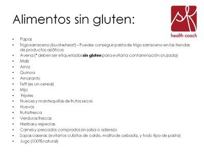 Cocinar sin gluten paperblog - Lista alimentos con gluten ...