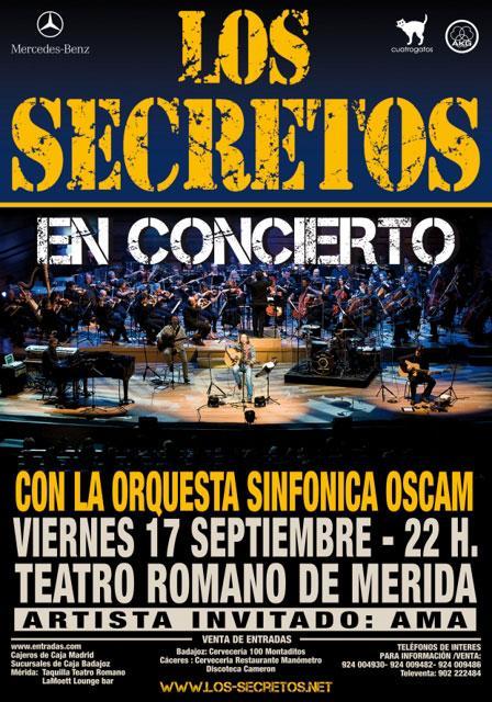 Los Secretos.- Teatro Romano de Mérida