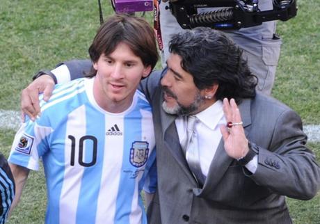 Maradona fue el entrenador de Messi en el Mundial 2010 de Sudáfrica.