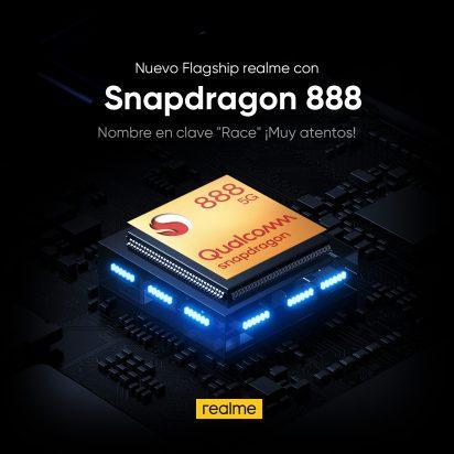 """¡Snapdragon 888 en el próximo realme """"Race""""!"""