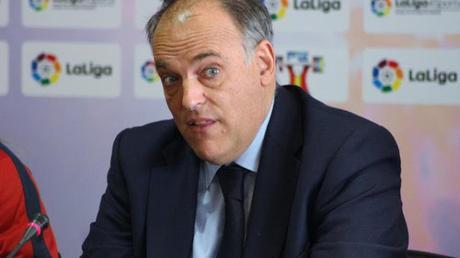 Javier Tebas: 'Esperemos tener público en los estadios en enero'