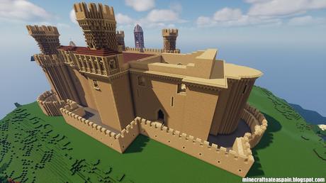 Réplica Minecraft del Castillo de Manzanares el Real, Madrid, España.