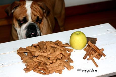 Galletas de manzana y canela para perros