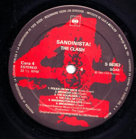 The Clash -Sandinista 3Lp 1980
