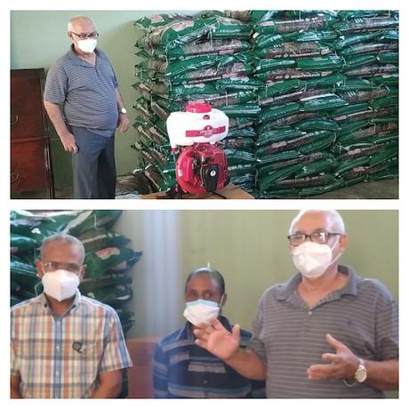 INUVA y UTEPDA donan insumos y motobombas a productores de uvas del Valle de Neiba.