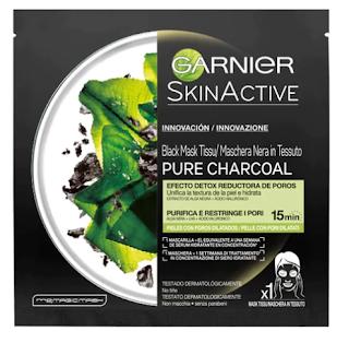 Mascarilla Facial PURE CHARCOAL Black Detox Garnier