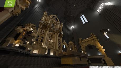 Réplica en Minecraft RTX: Iglesia de San Lorenzo Mártir de Fuenteodra (Burgos), España.