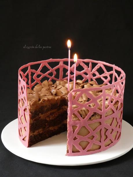 Tarta de Chocolate con cenefa Ruby