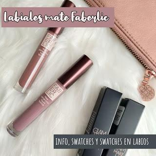 Labiales Mate Faberlic: Info, swatches y swatches en labios