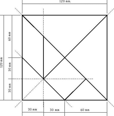 como hacer el tangram