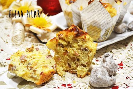 Muffins de jamón, higos y nueces