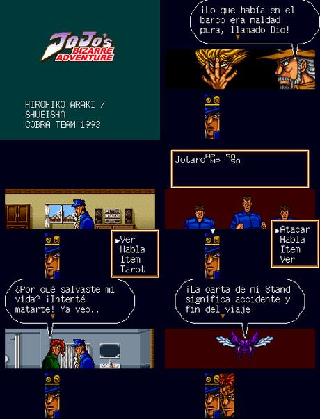 Jojo no Kimyou na Bouken (JoJo's Bizarre Adventure) de Super Nintendo traducido al español