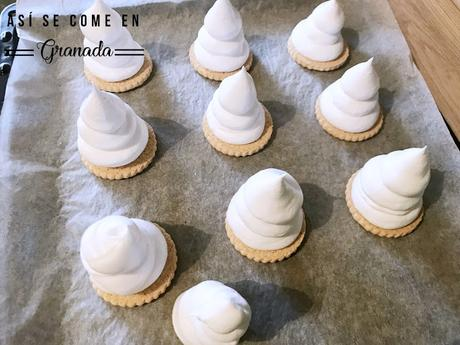 Merengues con chocolate en thermomix
