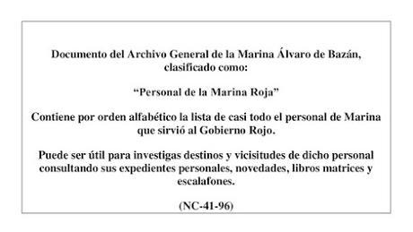 PERSONAL DE LA MARINA ROJA (I)