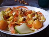 Ensalada calabacin, repollo frutas