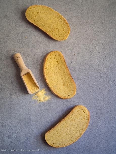 Pan amarillo con harina de maíz