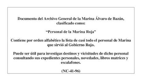 PERSONAL DE LA MARINA ROJA (III)