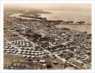 Sector de Nuevo Cristóbal en Colón en la década de 1920 antes y después de urbanizarlo