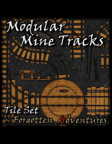 Modular Mine Tracks. Tile Set, de ForgottenAdventures