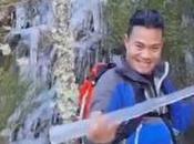 Vídeo Jesús Calleja muestra seguidores belleza cascada Gualtón congelada