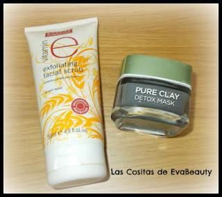 Exfoliante facial avena Beauty Formulas y Mascarilla facial Detox arcilla de Loreal