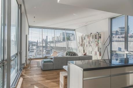 Casas Flotantes Minimalistas en el Puerto de Hamburgo