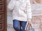 Abrigo plumas blanco