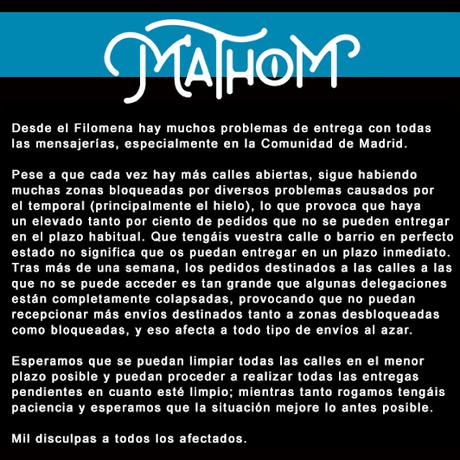 Comunicado de Mathom Store