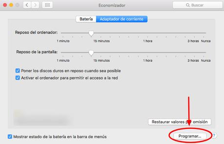 Aprende a programar el apagado, encendido, reposo y reinicio de una Mac