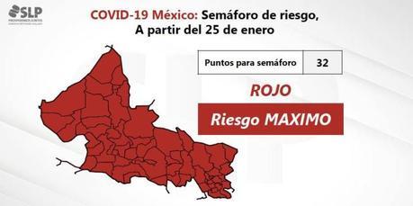 San Luis Potosí entra a semáforo rojo este 25 de enero