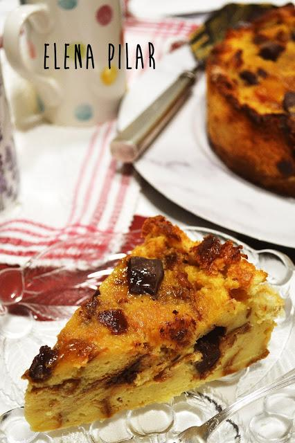 Pudin de brioche (o roscón o panettone o de lo que sea que tengáis), de Jamie Oliver