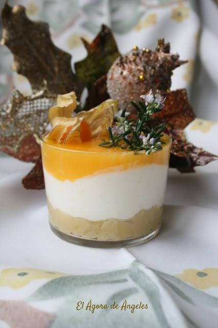 Vasitos de crema de mandarina y yogur  El Ágora de Ángeles